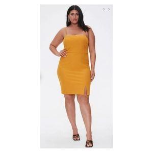 F21 Pin Stripe Yellow/Gold/cream Minidress 0X